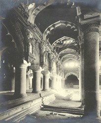 North-east view, interior view, Tirumal Naick's Palace, Madura 345